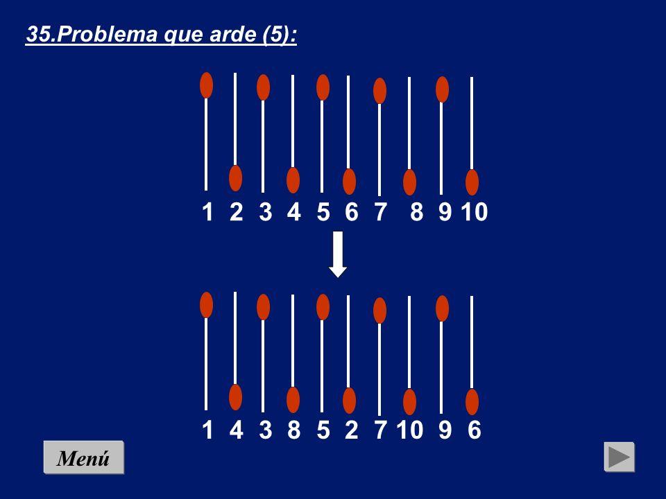 Con cinco movimientos deben formarse cinco parejas – siempre capiculadas- atendiendo a las siguientes reglas: en cada movimiento sólo puede tomarse un