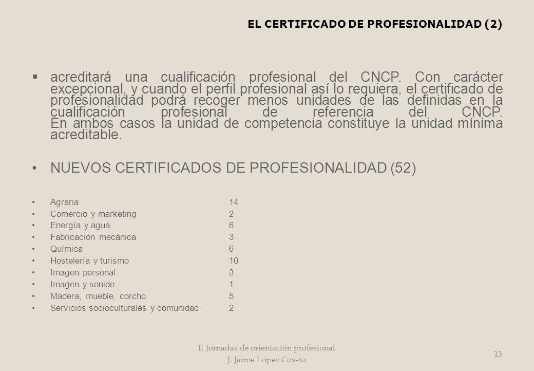 acreditará una cualificación profesional del CNCP. Con carácter excepcional, y cuando el perfil profesional así lo requiera, el certificado de profesi