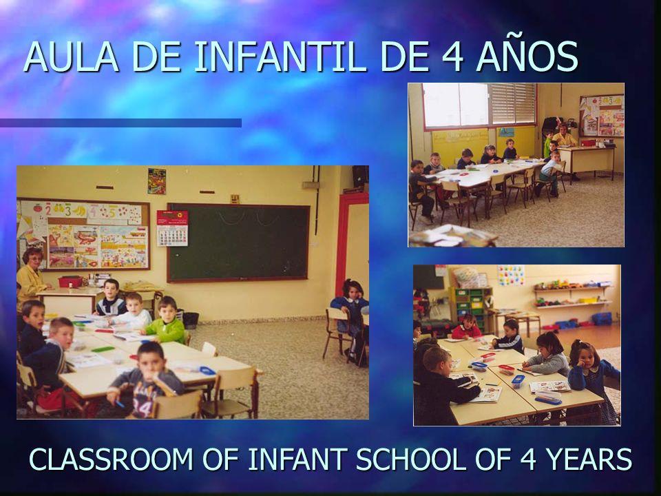 AULA DE INFANTIL DE 4 AÑOS CLASSROOM OF INFANT INFANT SCHOOL SCHOOL OF 4 YEARS