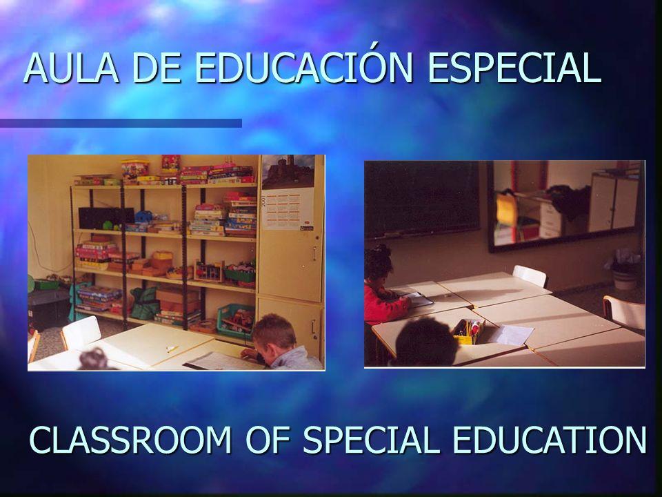 AULA DE EDUCACIÓN ESPECIAL CLASSROOM OF SPECIAL EDUCATION