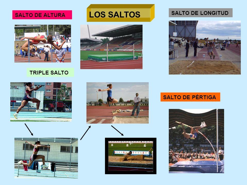 LOS SALTOS SALTO DE ALTURA TRIPLE SALTO SALTO DE PÉRTIGA SALTO DE LONGITUD