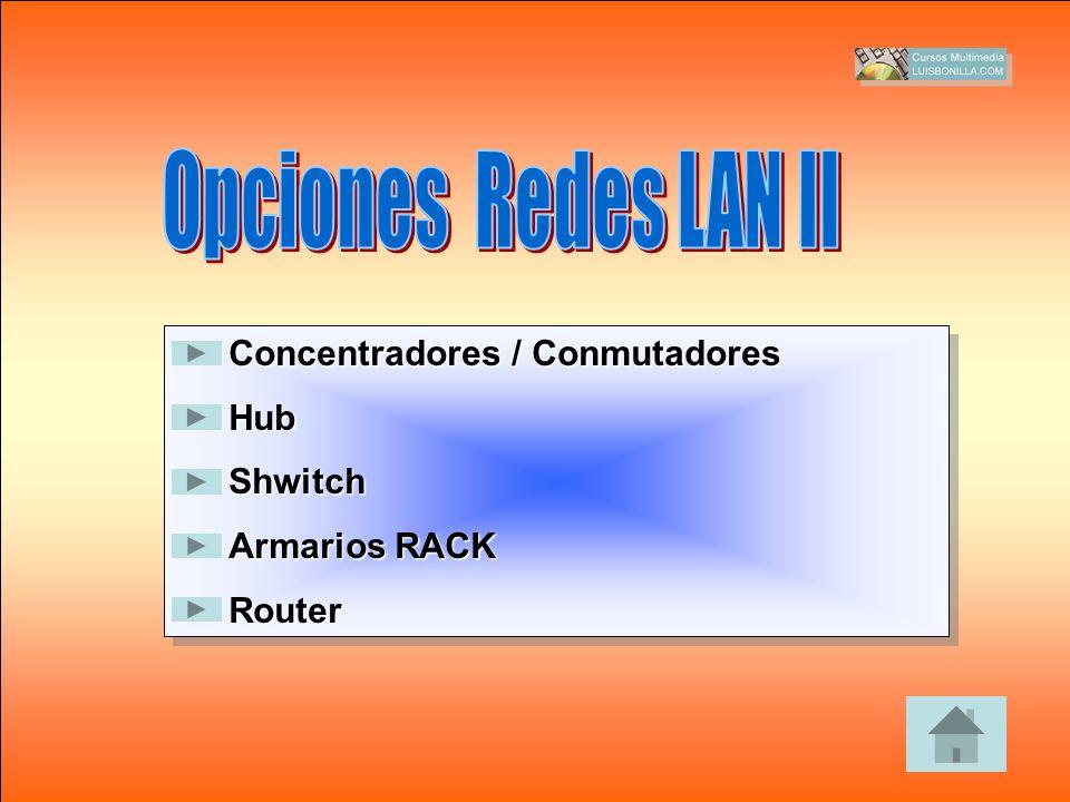Concentradores / Conmutadores HubShwitch Armarios RACK Router Concentradores / Conmutadores HubShwitch Armarios RACK Router