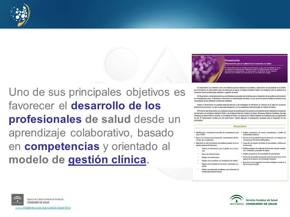 Uno de sus principales objetivos es favorecer el desarrollo de los profesionales de salud desde un aprendizaje colaborativo, basado en competencias y