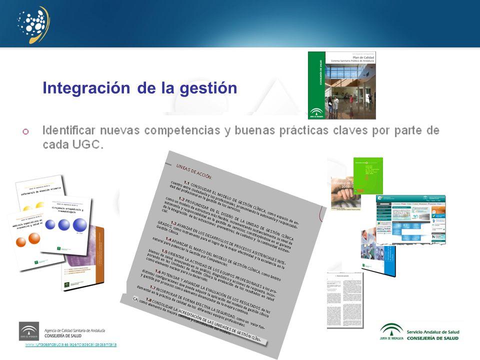 www.juntadeandalucia.es/agenciadecalidadsanitaria Integración de la gestión