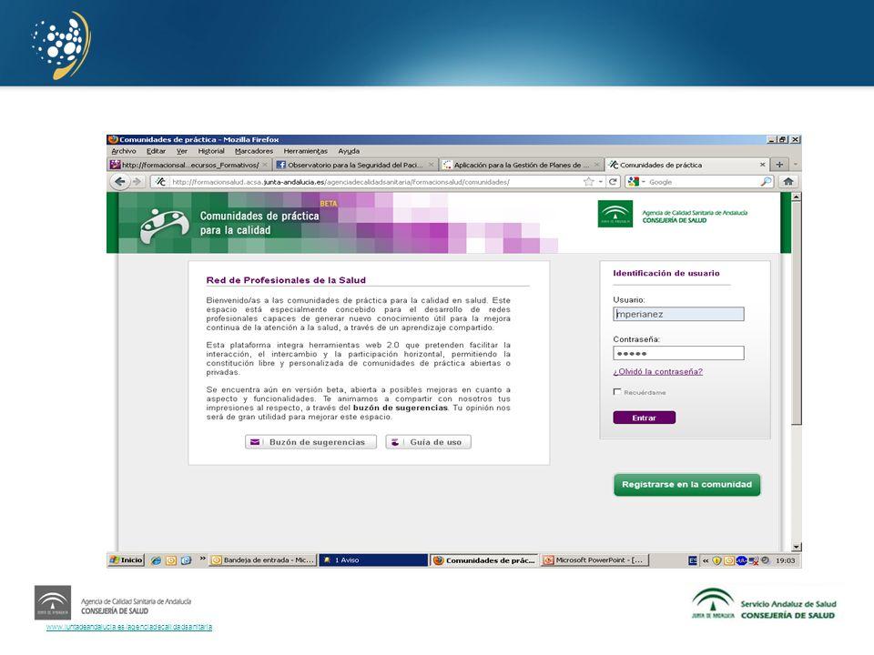 www.juntadeandalucia.es/agenciadecalidadsanitaria o Evidencias Requisitos relacionados con cada nivel de desarrollo.
