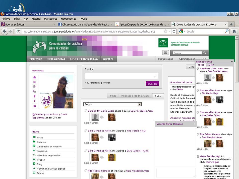 www.juntadeandalucia.es/agenciadecalidadsanitaria o Objetivos cada práctica puede asociarse a los objetivos de la Unidad y/o a los individuales.