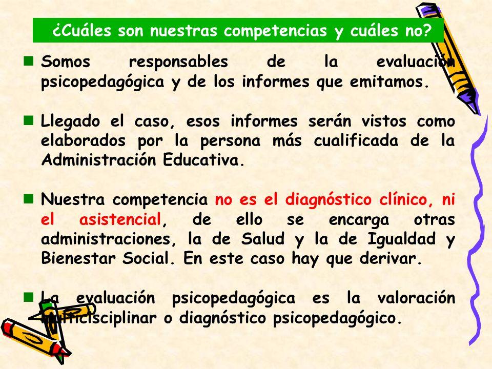 Somos responsables de la evaluación psicopedagógica y de los informes que emitamos. Llegado el caso, esos informes serán vistos como elaborados por la