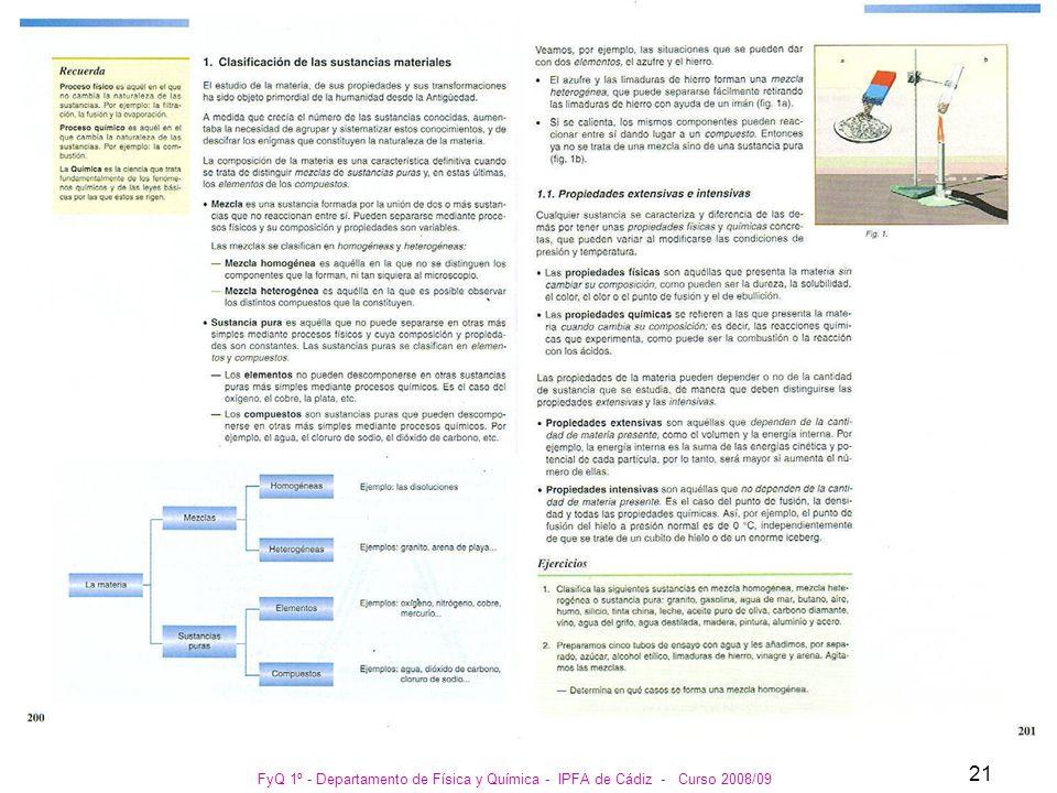FyQ 1º - Departamento de Física y Química - IPFA de Cádiz - Curso 2008/09 21