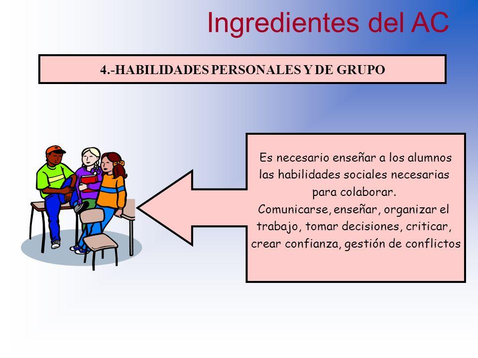 3.- INTERACCION CARA A CARA Son las formas de interacción y de intercambio verbal entre las personas del grupo. Para que los miembros promuevan las ex