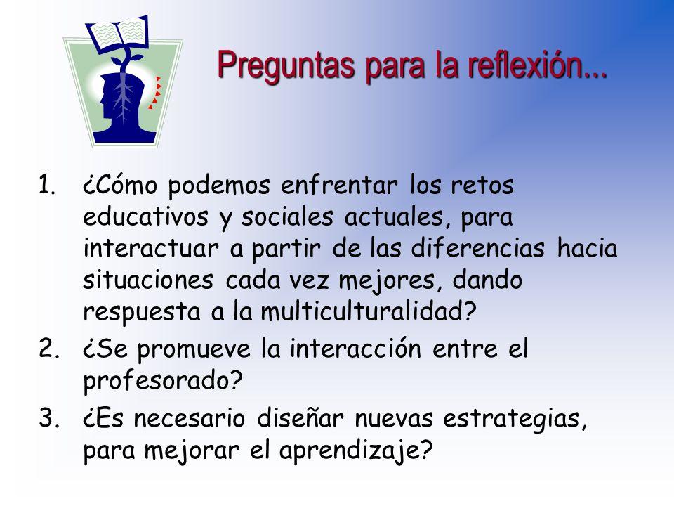Proyecto común para el trabajo cooperativo Proyecto común para el trabajo cooperativo oExistencia de mínimos compartidos susceptibles de consenso.