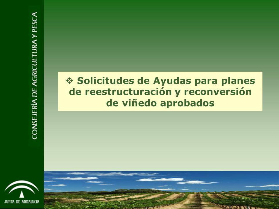 10 Solicitudes de Ayudas para planes de reestructuración y reconversión de viñedo aprobados