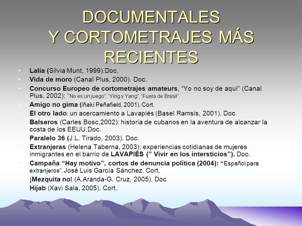 DOCUMENTALES Y CORTOMETRAJES MÁS RECIENTES Lalia (Silvia Munt, 1999).Doc. Vida de moro (Canal Plus, 2000). Doc. Concurso Europeo de cortometrajes amat