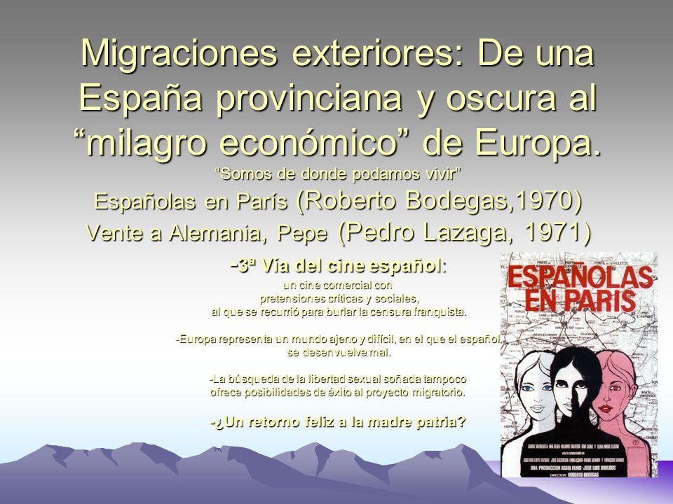 Las migraciones interiores: EL SUR TAMPOCO EXISTE… AÑOS 60 La piel quemada ( José Mª Forn, 1967): de la cerrada Andalucía caciquil y explotada, a la luminosa Cataluña.