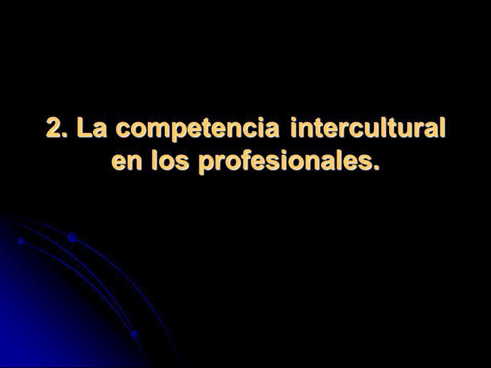 2. La competencia intercultural en los profesionales.