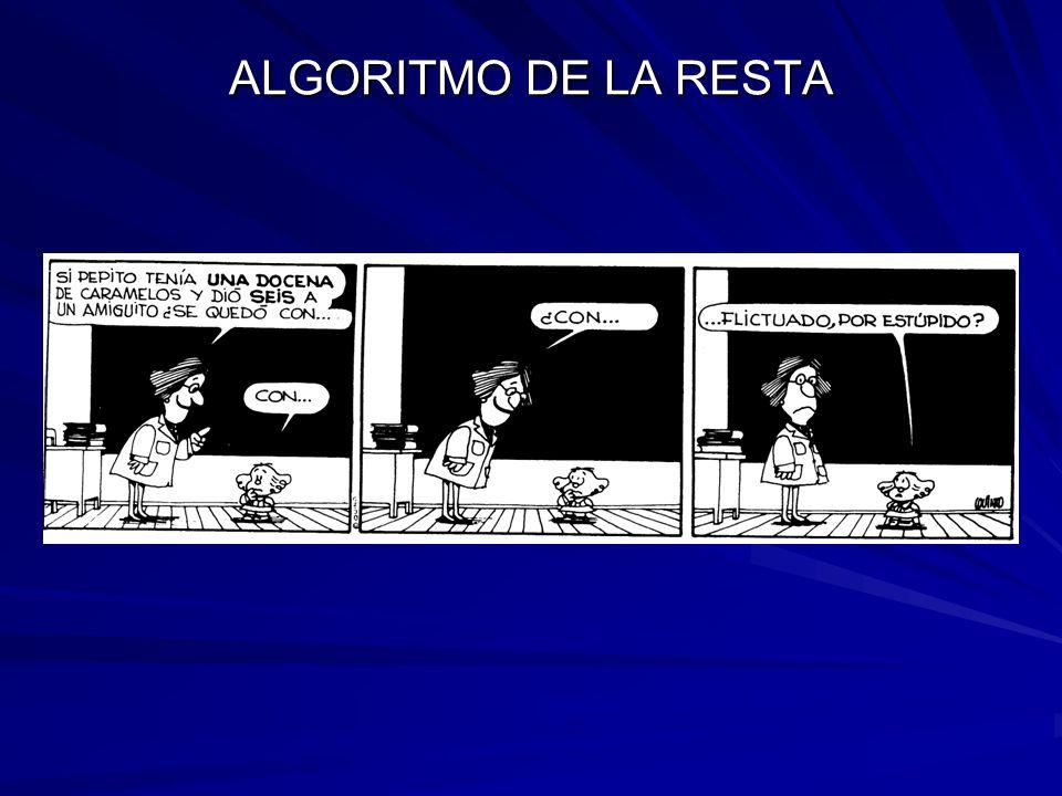 ALGORITMO DE LA RESTA