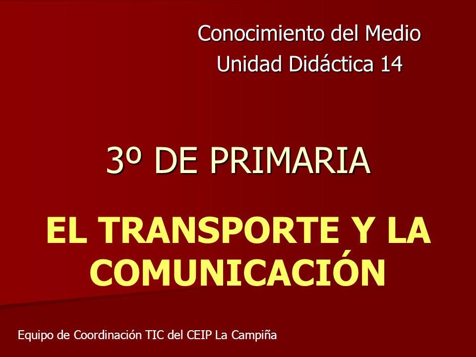 EN ESTE TEMA APRENDEMOS… Los principales medios de transporte y comunicación.