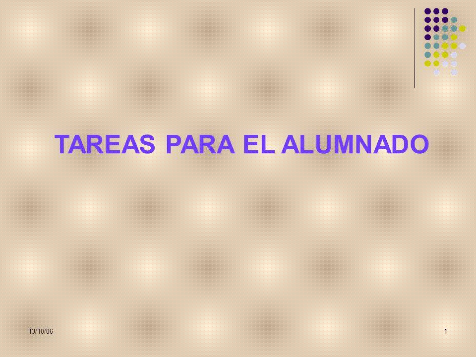 13/10/061 TAREAS PARA EL ALUMNADO