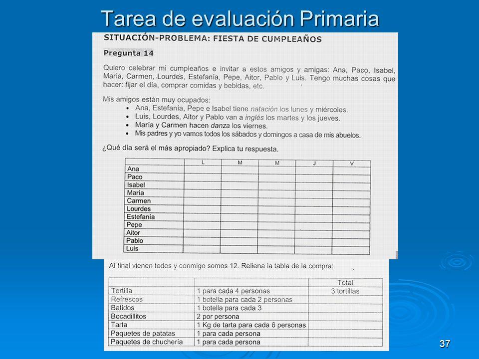 37 Tarea de evaluación Primaria