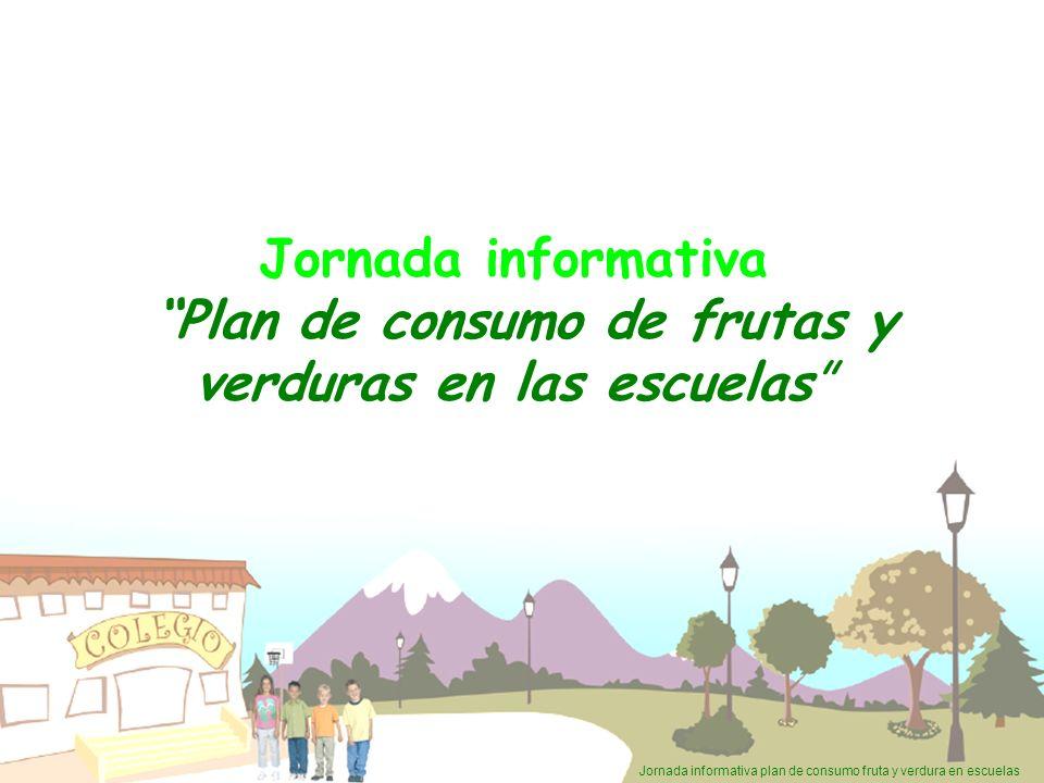 Jornada informativa plan de consumo fruta y verdura en escuelas Jornada informativa Plan de consumo de frutas y verduras en las escuelas