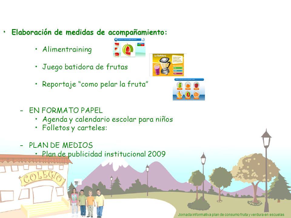 Jornada informativa plan de consumo fruta y verdura en escuelas Elaboración de medidas de acompañamiento:Elaboración de medidas de acompañamiento: Ali