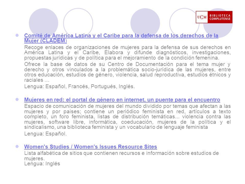 Comité de América Latina y el Caribe para la defensa de los derechos de la Mujer (CLADEM) Comité de América Latina y el Caribe para la defensa de los