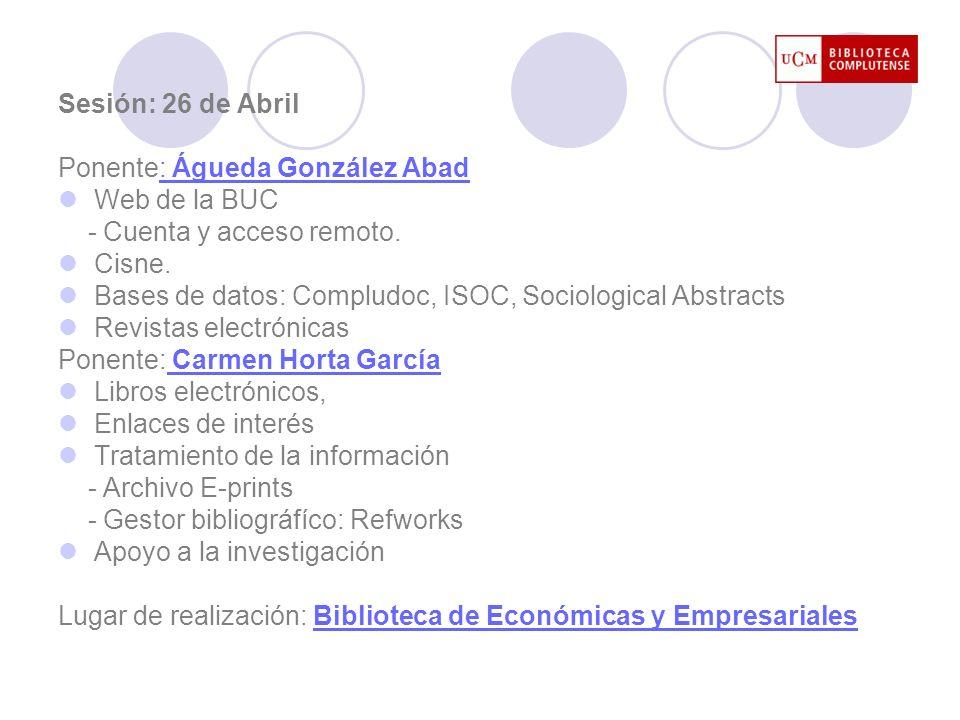 Web de la BUC http://www.ucm.es/BUCM/ Biblioteca Complutense Buscar Servicios Colección digital complutense Nuestras bibliotecas Acceso a: La Universidad Enlaces rápidos Noticias