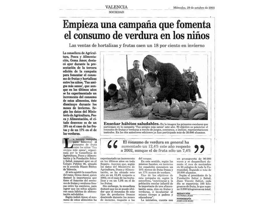 Campaña 2009: SUPER-CITRIC, SUPER-VITAMINA C SUPER C La campaña visitó 82 colegios de la Comunidad Valenciana (25.000 alumnos).