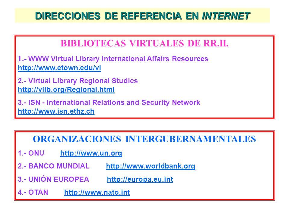 OBRAS CON REFERENCIAS DOCUMENTALES BARBÉ, E.-Relaciones Internacionales.- Edit. Tecnos; 2ª edic.; Madrid, 2003; págs. 345-350. PEREIRA, J.C. (coord.).