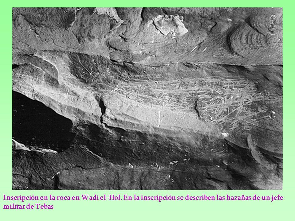 La estela de Sobekhotep III Esta estela fue hallada en el área A de Wadi el-Hol.