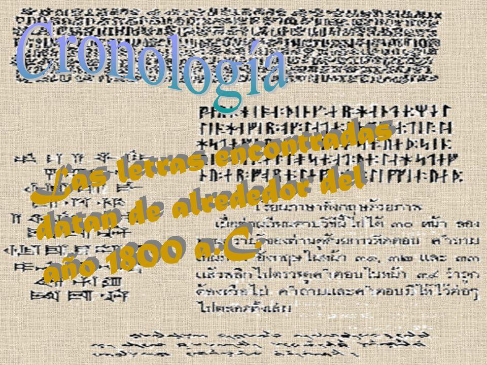 Las letras encontradas datan de alrededor del año 1800 a.C.