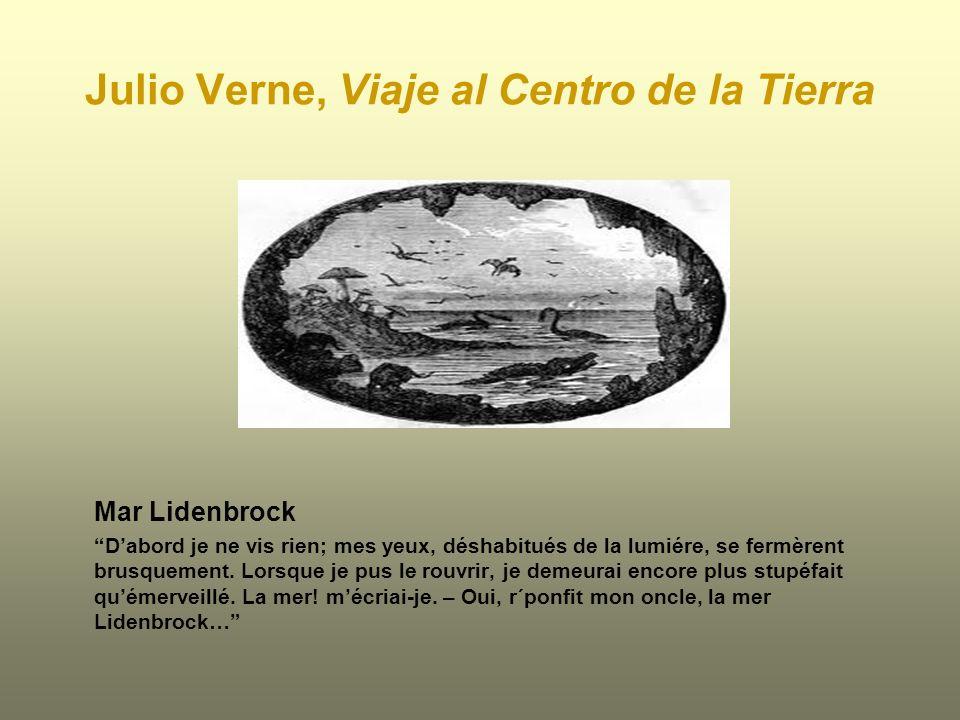 Julio Verne, Viaje al Centro de la Tierra Mar Lidenbrock Dabord je ne vis rien; mes yeux, déshabitués de la lumiére, se fermèrent brusquement. Lorsque