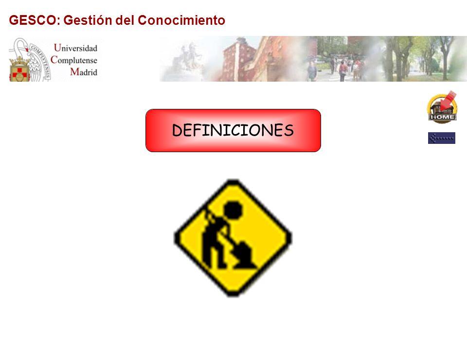 GESCO: Gestión del Conocimiento DIRECCIÓN AL BLOG www.theconocimiento.blogspot.com