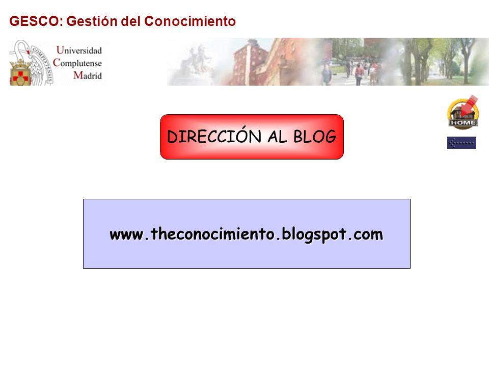 GESCO: Gestión del Conocimiento PROFESORES/ ASALUMNOS/ AS