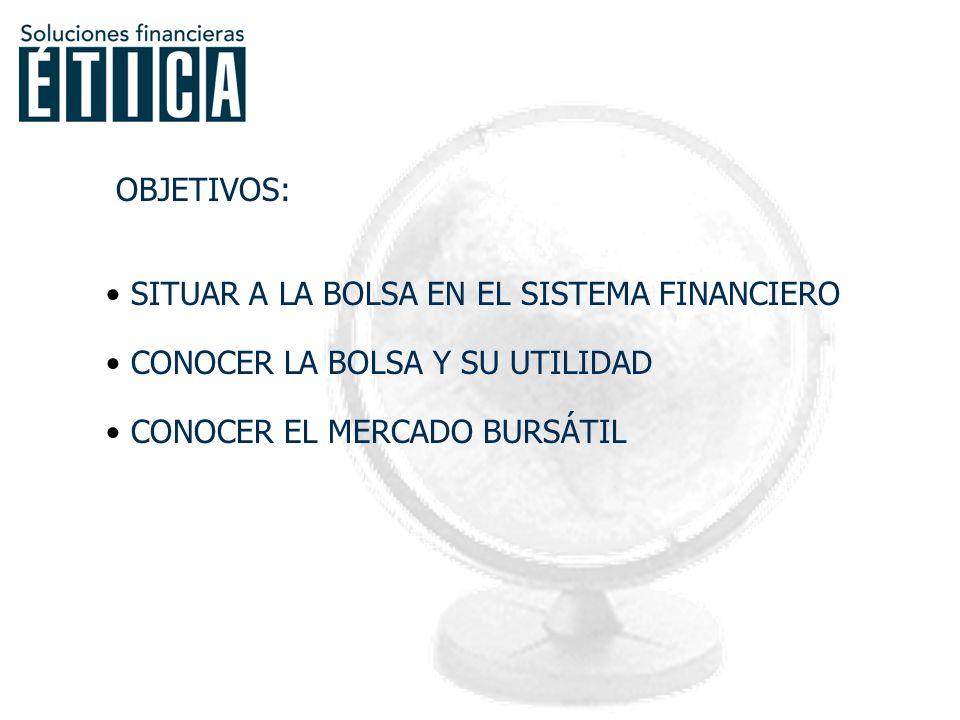 FUNCIONES DE LA BOLSA Demanda de fondos: FINANCIACIÓN.