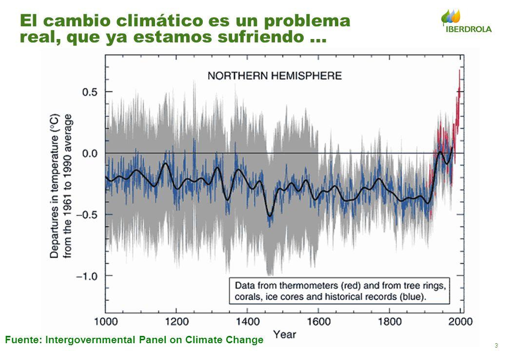 3 El cambio climático es un problema real, que ya estamos sufriendo... Fuente: Intergovernmental Panel on Climate Change