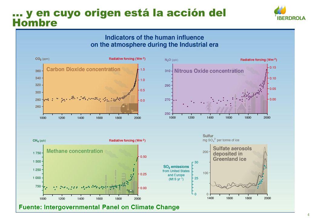 5 El sector energético genera un tercio de las emisiones de CO 2, el principal gas de efecto invernadero,...