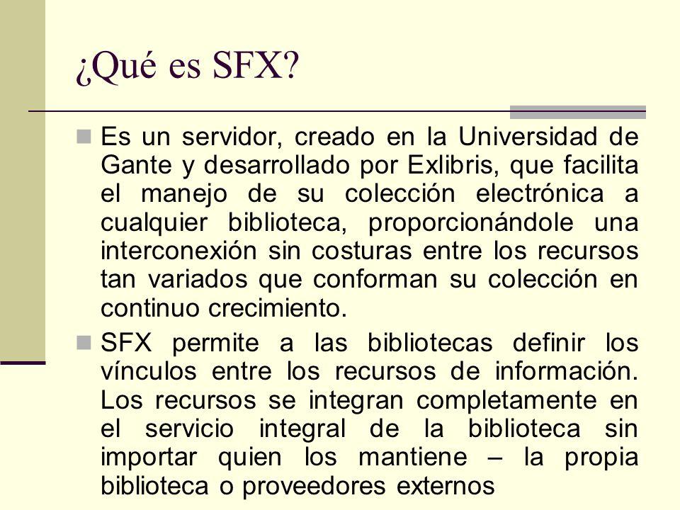 ¿Qué es SFX.
