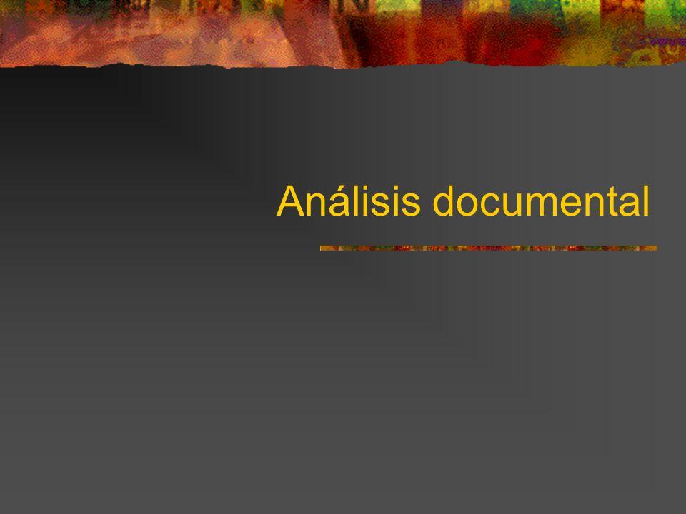 El análisis documental tiene como objetivo primordial la recuperación de los documentos a partir de distintos criterios, formales, morfológicos o temáticos, generalmente normalizados.