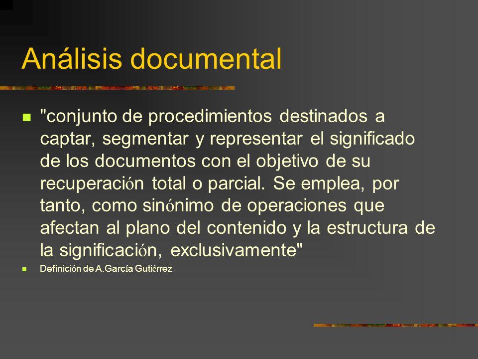 Análisis documental: Funciones Control documental
