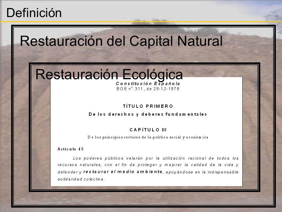 Definición Restauración del Capital Natural Restauración Ecológica