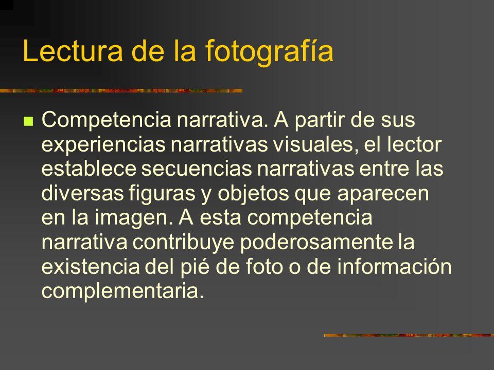 Lectura de la fotografía Competencia narrativa.