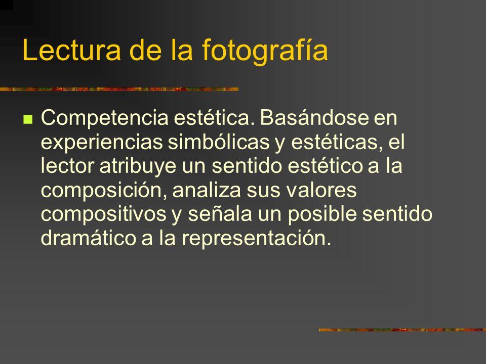 Lectura de la fotografía Competencia estética.