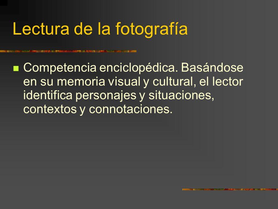 Lectura de la fotografía Competencia enciclopédica.