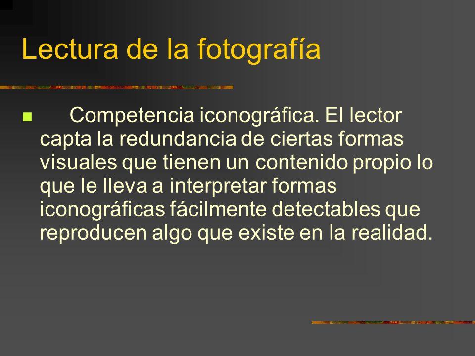 Lectura de la fotografía Competencia iconográfica.