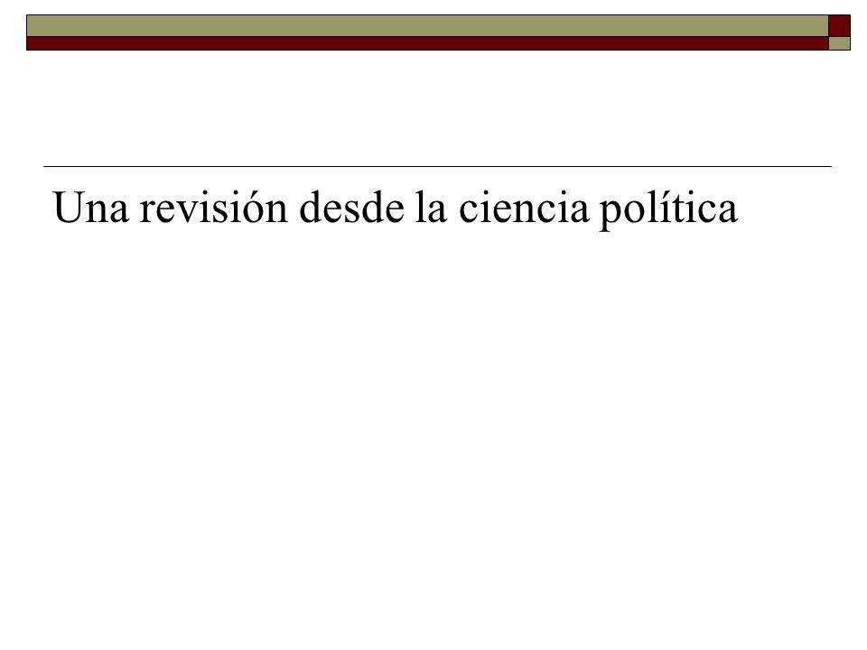 Una revisión desde la ciencia política
