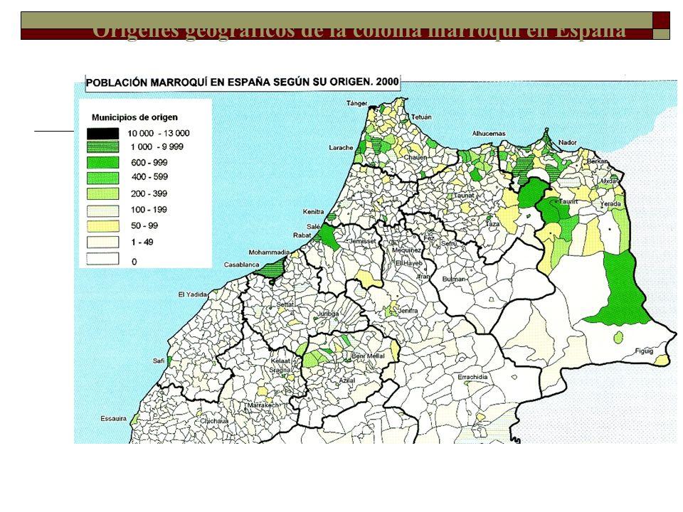Orígenes geográficos de la colonia marroquí en España