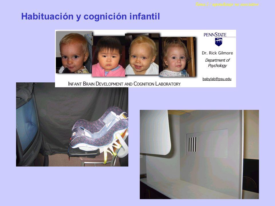 Habituación y cognición infantil Tema 2 / aprendizaje no asociativo