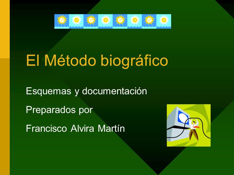 El Método biográfico Esquemas y documentación Preparados por Francisco Alvira Martín