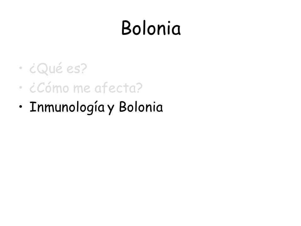 Bolonia ¿Qué es? ¿Cómo me afecta? Inmunología y Bolonia