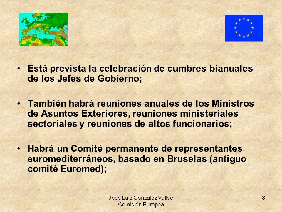 José Luis González Vallvé Comisión Europea 8 Está prevista la celebración de cumbres bianuales de los Jefes de Gobierno; También habrá reuniones anual